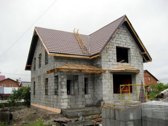 Строительство домов с блоков своими руками