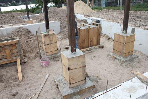 Как сделать колонны из бетона